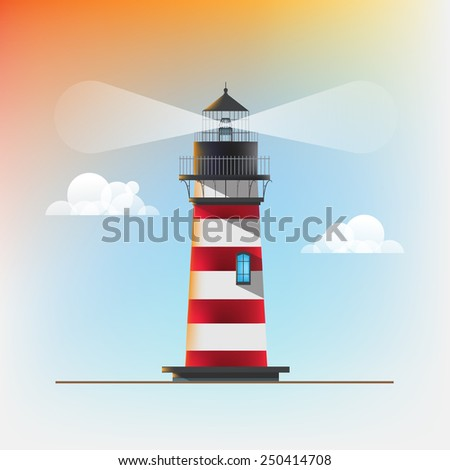 A lighthouse illustration for your design - stock vector