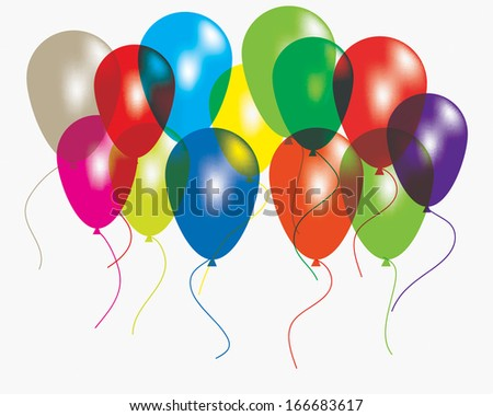 A lot of colorful balloons. EPS10 vector illustration