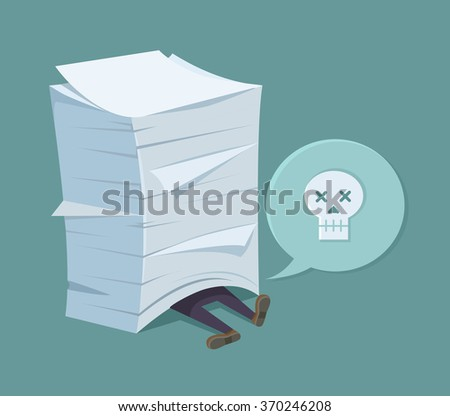 A lot of works. Vector flat illustration - stock vector