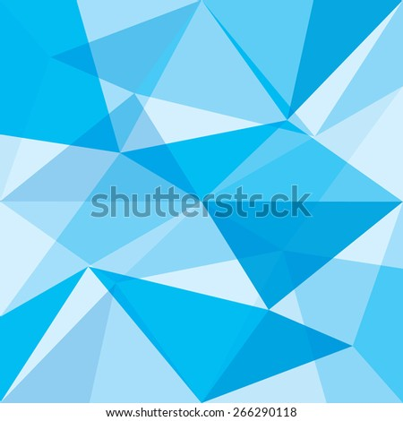 A low poly vector background made up of cyan tones. - stock vector