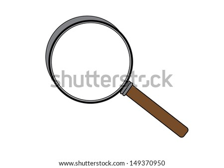 A Magnifying Glass on a White Background. Vector