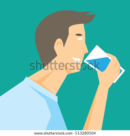 Thirsty man stock images royalty free images vectors shutterstock a man drinking water vector sciox Gallery