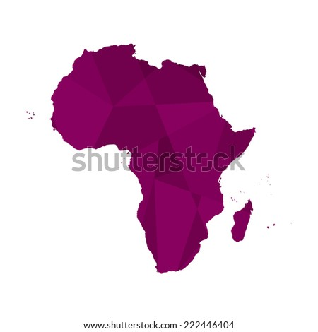 A Map of the continent of Africa - stock vector