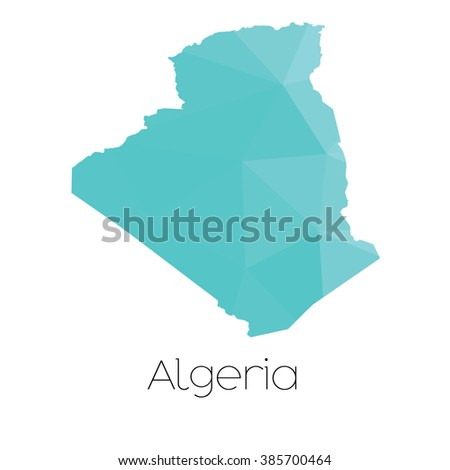 A Map of the country of Algeria - stock vector