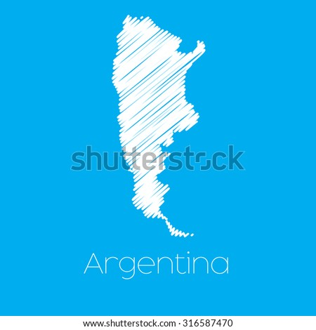 A Map of the country of Argentina