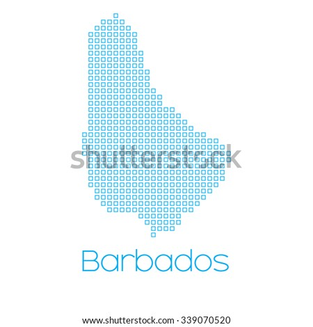 A Map of the country of Barbados