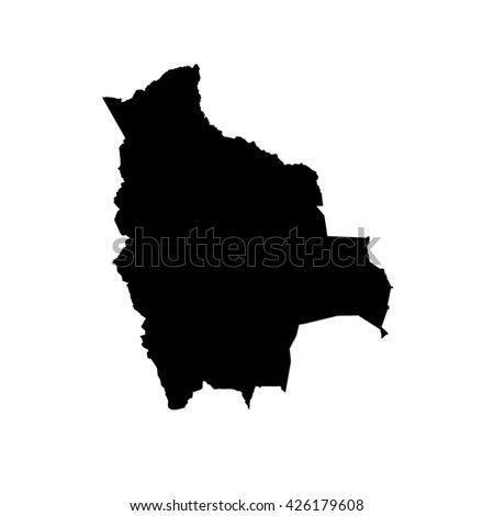 A Map of the country of Bolivia - stock vector
