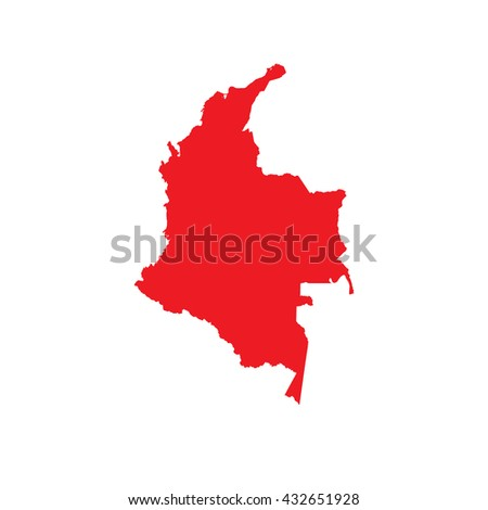 A Map of the country of Colombia - stock vector