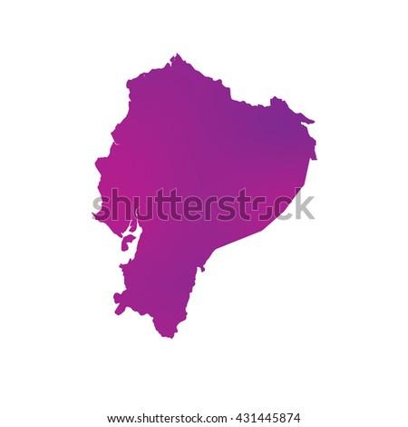 A Map of the country of Ecuador - stock vector