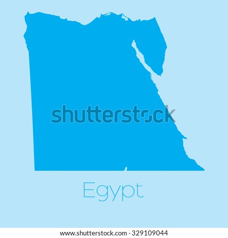 A Map of the country of Egypt - stock vector