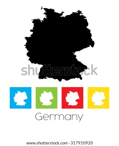 A Map of the country of Germany - stock vector