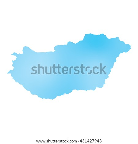 A Map of the country of Hungary
