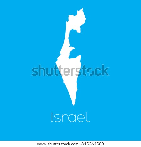 A Map of the country of Israel - stock vector
