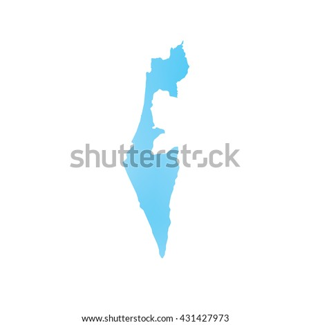 A Map of the country of Israel