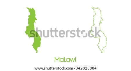 A Map of the country of Malawi