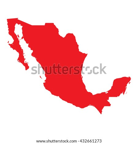 A Map of the country of Mexico