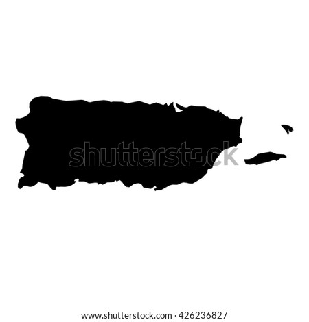 A Map of the country of Puerto Rico