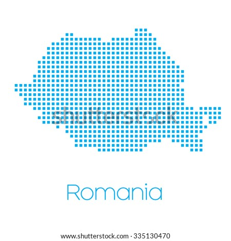 A Map of the country of Romania