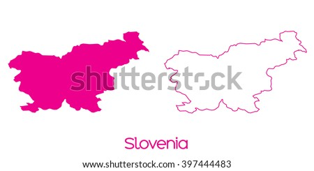 A Map of the country of Slovenia