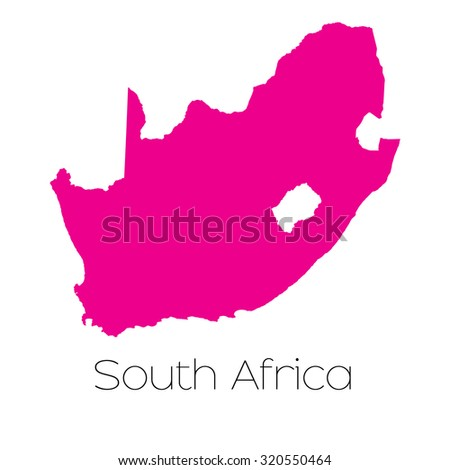A Map of the country of South Africa - stock vector