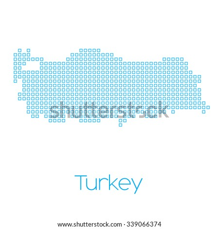 A Map of the country of Turkey