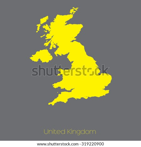 A Map of the country of United Kingdom - stock vector