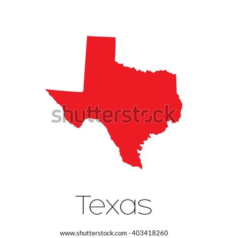 A Map of the the state Texas - stock vector