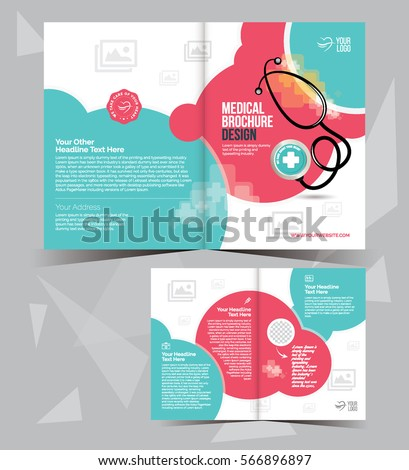 A4 Medical Brochure Layout Template Design   Bi Fold Medical Brochure  Template  Medical Brochures Templates