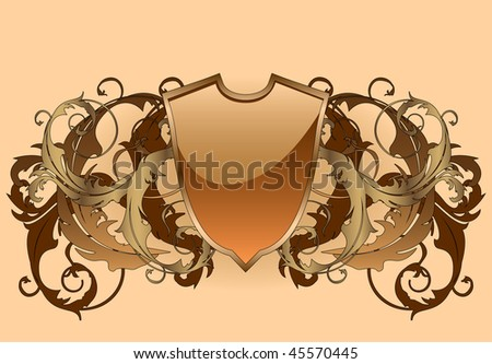 A medieval shield background - stock vector