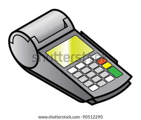 A mobile hand-held point of sale pin pad / terminal with card readers and printer.