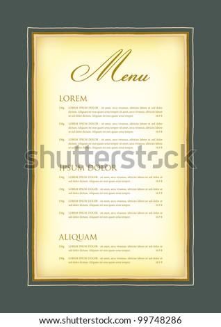 model menu certificate diploma stock vector shutterstock a model for the menu certificate diploma