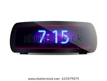 modern digital alarm clock. a modern digital alarm clock vector illustration isolated on white background
