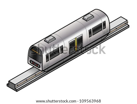 A monorail inter-terminal airport transport. - stock vector