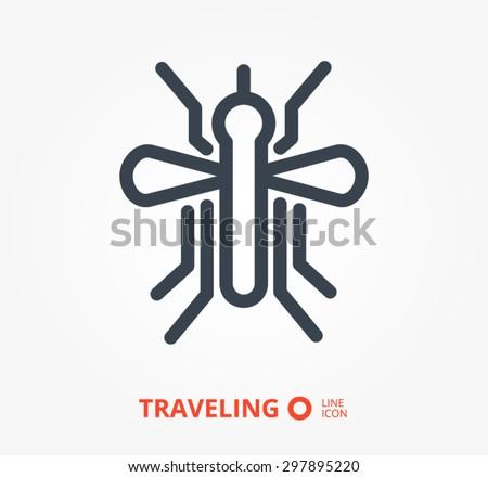 a mosquito vector icon - stock vector