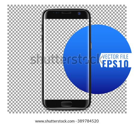 A new generation of smart phone Vector Mock Up and fully Re-size-able and Scale-able with high resolution great for web design showcase, product, presentations, advertising in modern style. - stock vector