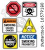 "A new twist on some old signage: Collection #3 of six vector ""No Smoking"" signs.   Font used is my own design. - stock vector"