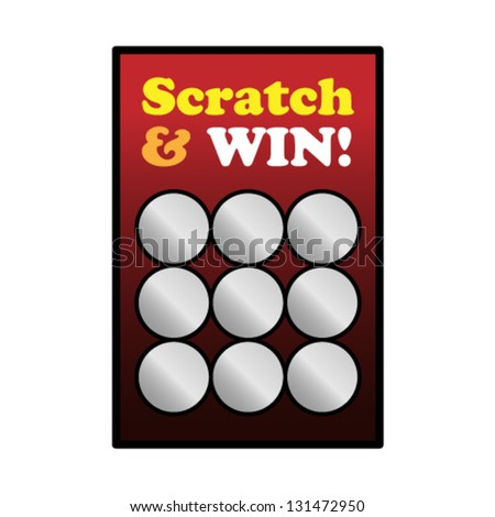 A new unscratched scratch and win game card. - stock vector