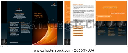 A 4 page (A4 size) corporate brochure design template - Vector - stock vector
