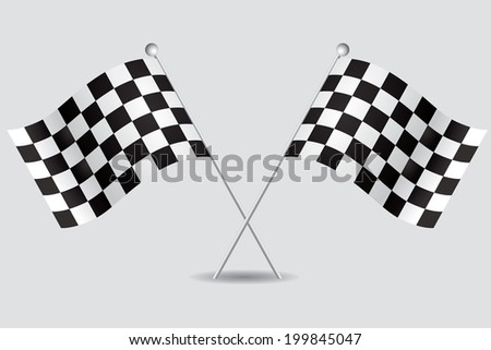 a pair of flags of goal in grey background