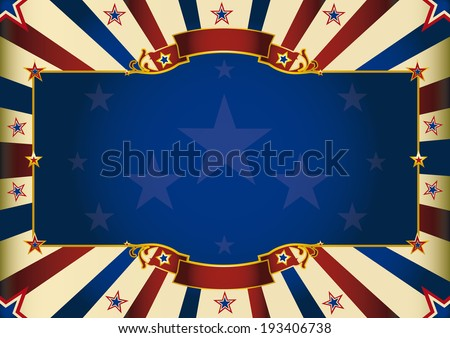 a patriotic background of USA for your advertising. Perfect size for a screen. - stock vector