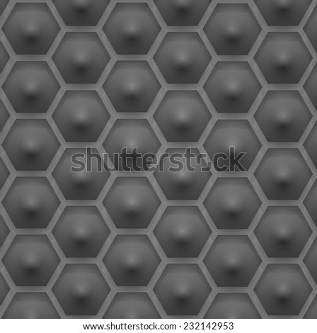 a pattern of hexagons. vector illustration