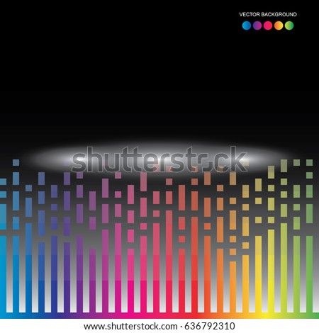 A pattern of rainbow color mosaic background. Vector.