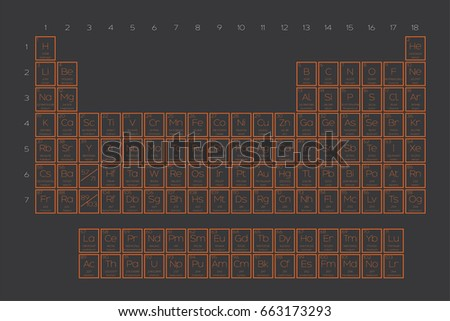Periodic table elements illustration atomic number stock vector a periodic table of the elements illustration with atomic number symbol atomic weight and urtaz Image collections