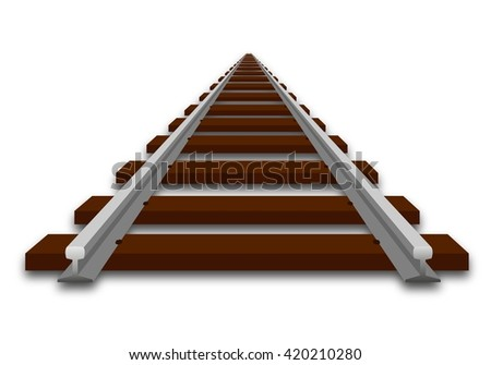 A perspective illustration of track - stock vector