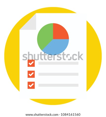 Pie Chart Analysis Proportional Percentage Data Stock Vector