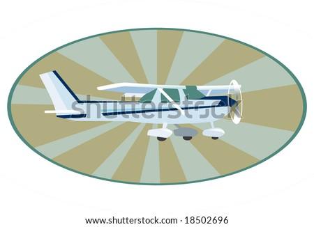 A plane cessna - stock vector