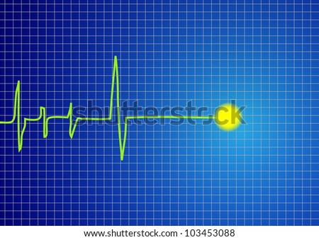 A pulse signal vector - stock vector