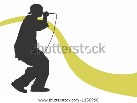 A rap singer - stock vector