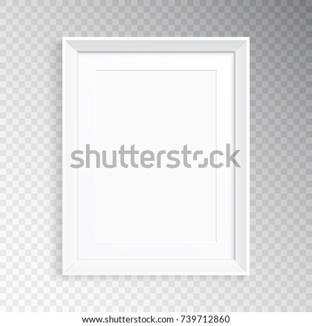 Realistic Frame Mat Photography Painting Mock Stock Vector 739712860 ...