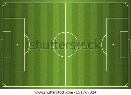 A realistic textured grass football / soccer field. Vector EPS 10. File contains transparencies. - stock vector